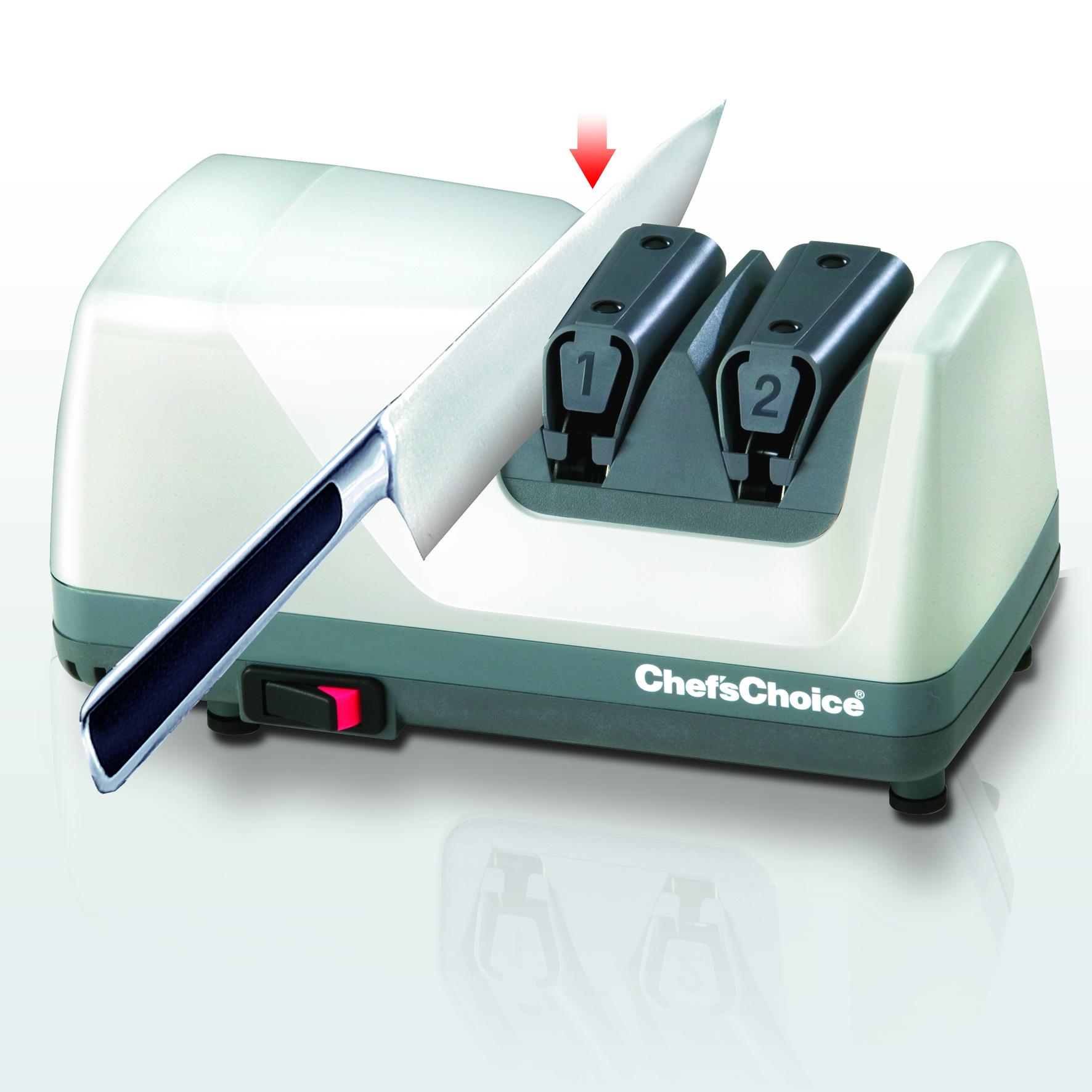 ChefsChoice 312 motoros késélező első, élező fázis